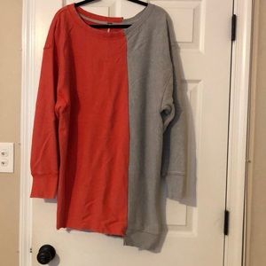 Free people 2 color long sweatshirt size medium